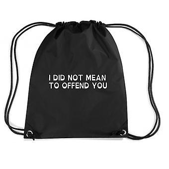 Black backpack trk0204 offends bonus
