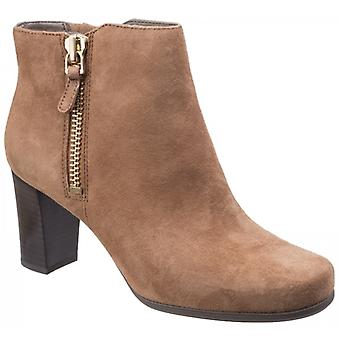 Rockport Total Motion Trixie Ladies Suede Ankle Boots Coconut