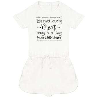 Behind Every Great Baby Is A Truly Amazing Aunt Baby Playsuit