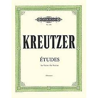 42 STUDIES OR CAPRICES FOR SOLO VIOLIN by KREUTZER & R