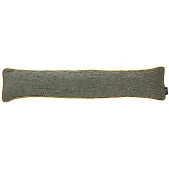 Mcalister textiles alston chenille grey + yellow draught excluder