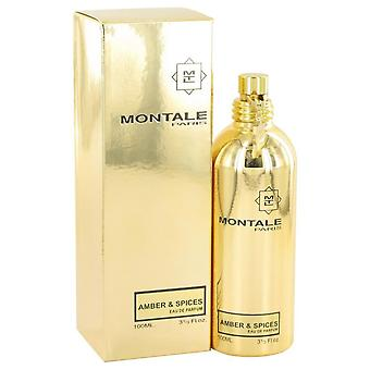 Montale Amber & Spices Eau De Parfum Spray (Unisex) By Montale   518271 100 ml
