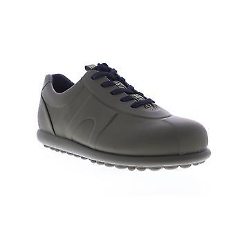 Camper Pelotas Mens Gray Leather Low Top Lace Up Euro Sneakers Schoenen