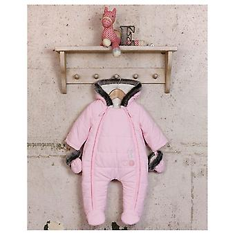 The Essential One Soft Pink Fur Trimmed Snowsuit