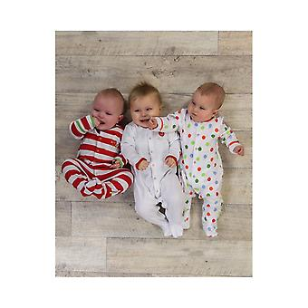 Essential One Baby Unisex Bright Balloner Sleepsuits - 3 Pack