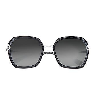 Bertha Teagan gepolariseerde zonnebril - Zwart/Zilver