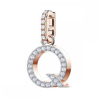 Swarovski Remix Rose Gold Tone Plated & White Crystal Letter Q Charm