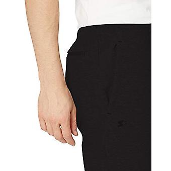 Starter Men's Double-Knit Fleece Short,  Exclusive, Black, Large