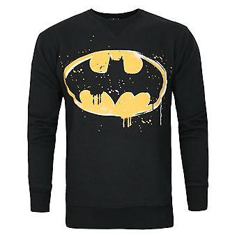 DC Comics Batman Stencil Men's Sweatshirt