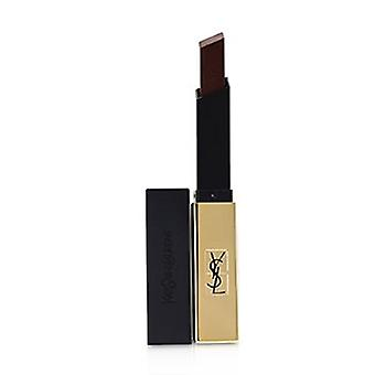 Yves Saint Laurent Rouge Pur Couture Le rouge à lèvres Slim Leather Matte - 22 Iron Bourguignon s'est adenthèse 2,2 g/0,08 oz