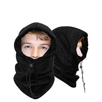 2 Pack Fleece Balaclava Thermische warme winter snood sjaal masker