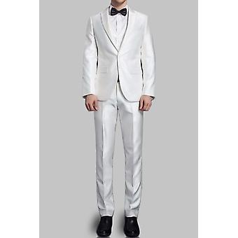 Satin suit 2 buttons curved cut