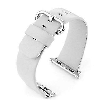 Watch strap made by w&cp to fit apple iwatch watch strap white leather 38mm and 42mm