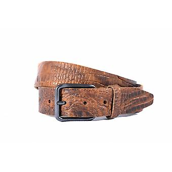 Tough Brown Belt With Beautiful Croco Structure