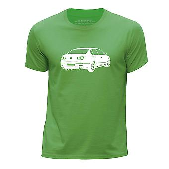 STUFF4 Boy's Round Neck T-Shirt/Stencil Car Art / Passat R36/Green