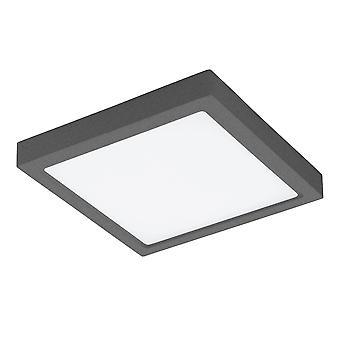 Eglo Argolis - LED Outdoor Flush Ceiling Light Anthracite IP44 - EG96495