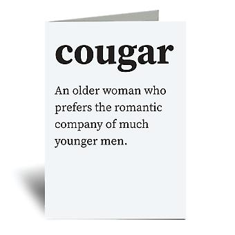 Cougar Urban Dictionary A6 Greeting Card