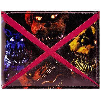 Fazbears fünf Nächte beängstigend Freddy ID & Karte Bi-Fold Geldbörse