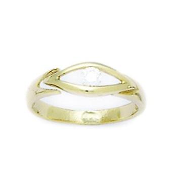 14k Yellow Gold CZ Cubic Zirconia Simulated Diamond Adjustable Eye Shape Body Jewelry Toe Ring Jewelry Gifts for Women