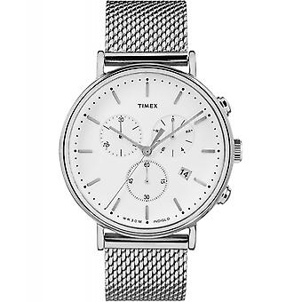 Timex TW2R27100 Fairfield chronograaf mesh horloge
