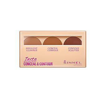 Rimmel London Rimmel Insta Conceal and Contour Palette 8.4g Dark / Fonce #030