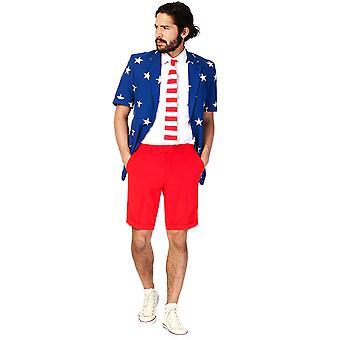 Costume d'été Mr. USA homme Opposuits