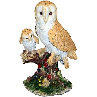 Barn Owl With Owlet by Juliana - Natural World Collection
