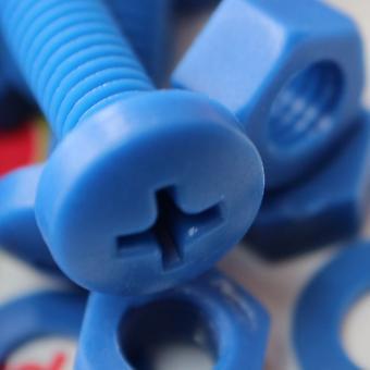 20x الأزرق بان رئيس البولي بروبلين (PP) المكسرات، البراغي، الزواز M6 × 40mm