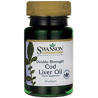 Swanson Cod Liver Oil 700 mg Double Strength 30 Softgels