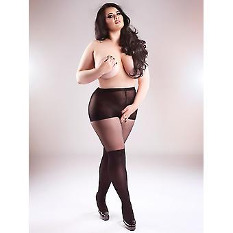 Miss Naughty Open Gusset Over The Knee Tights