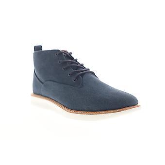 Ben Sherman Nu Casual Chukka  Mens Blue Canvas Mid Top Chukkas Boots