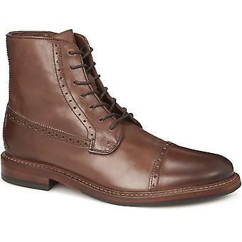 Jones Bootmaker Mens Leather Brogue Ankle Boot