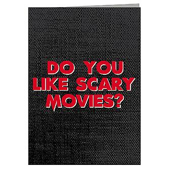 Scream Do You Like Scary Movies Greeting Card