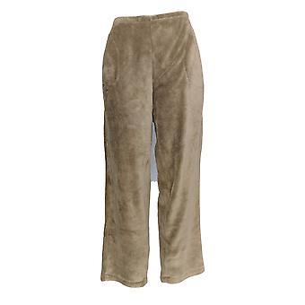 Stan Herman Women's Lounge Pant Silky Plush Taupe Beige A310782