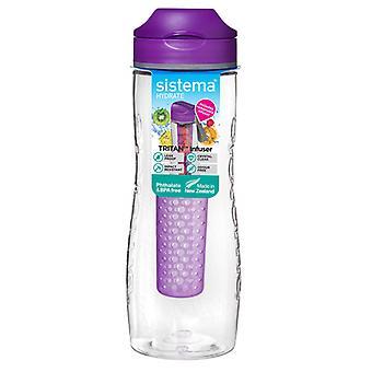 Sistema Tritan Fruit Infuser Bottle 800ml Purple