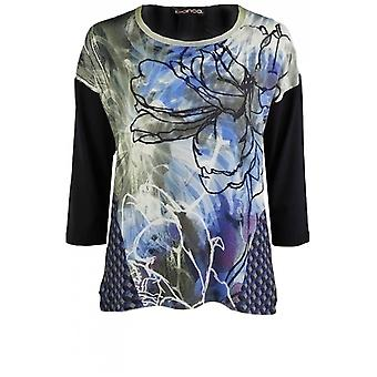 Bianca Abstract Floral Design Top