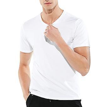 Allthemen Men's Round Neck Casual Waterproof Short-Sleeved T-Shirt
