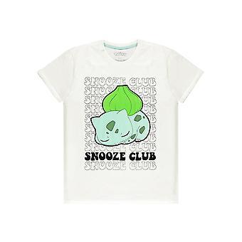 Officiële Pokémon Bulbasaur 'Snooze Club' Heren's T-shirt