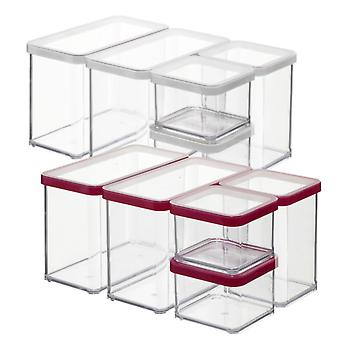 ROTHO Storage Boxes Set LOFT 5-piece Transparent / Red