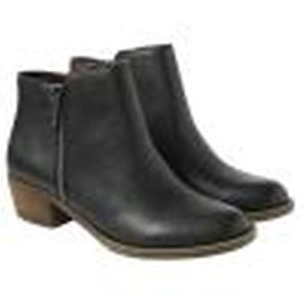 kensie Women's Black Leather Ghita Short Ankle Boots