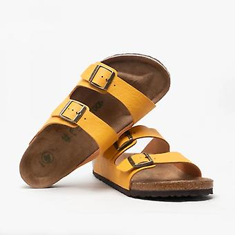 Birkenstock Arizona 1018149 (reg) Mens Vegan Two Strap Sandals Ochre