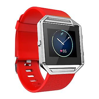 Replacement Wristband Bracelet Band Strap for Fitbit Blaze[Red,Small]