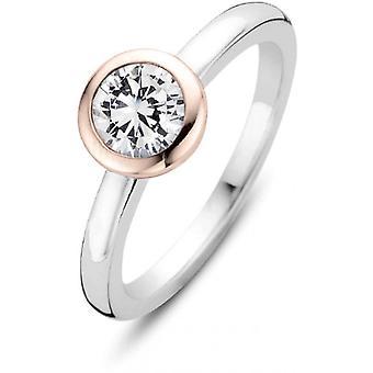 Ti Sento Ring 12103ZR - Sølv Ring Serti Clos Dor Rose Zirconium Kvinde