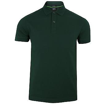 Hugo boss men's dark green piro polo shirt