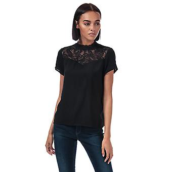 Women's Only First Lace Top in Black