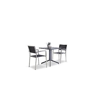 Rozsdamentes acél étkező csoport Marbella 2 - fekete