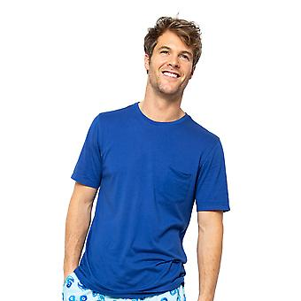 Cyberjammies Dylan 6512 Männer's Blau stricken Pyjama Top