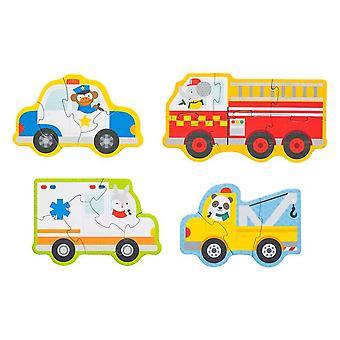 Petit Collage Beginner Puzzle (Rescue Vehicles)