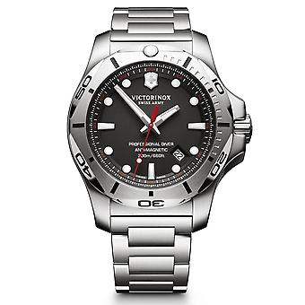 Victorinox Swiss Army 241781 I.n.o.x. Professional Diver Black & Silver Stainless Steel Men's Watch