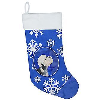 Dandie Dinmont Terrier vinter snefnug Christmas strømpe SS4641